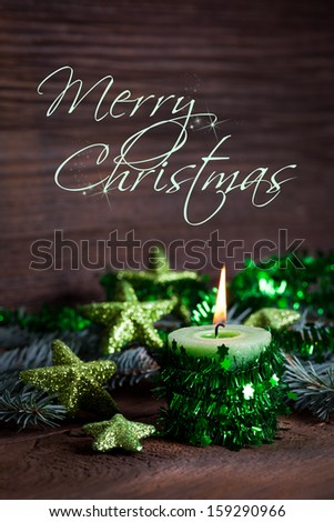 christmas card with text  - stock photo