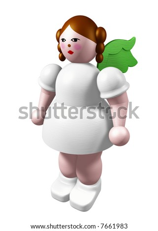 Christmas Cherub - stock photo