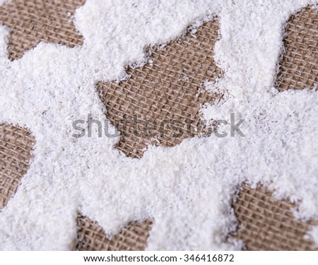 christmas coconut background - stock photo
