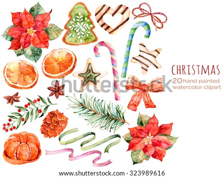 christmas collectionsweetspoinsettiaaniseorangepine coneribbons