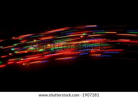 Christmas Comets - stock photo
