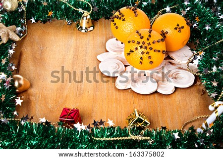 Christmas composition, decoration, - stock photo