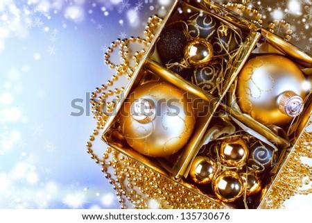Christmas composition with Christmas decoration. Christmas - stock photo