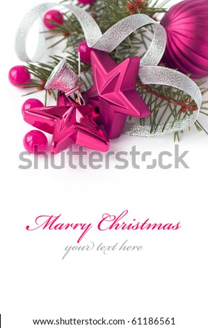 Christmas composition with space for text - stock photo