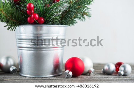 red white and silver christmas theme background