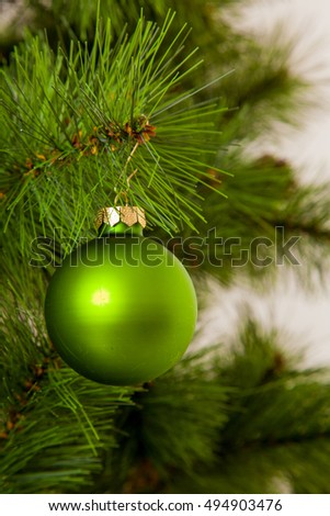 Christmas concept with baubles.  Xmas ball
