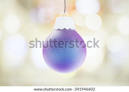 Christmas concept with violet christmas tree ball - stock photo