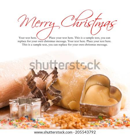christmas cookie ingredients - stock photo