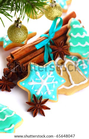 Christmas cookie with cinnamon and anise