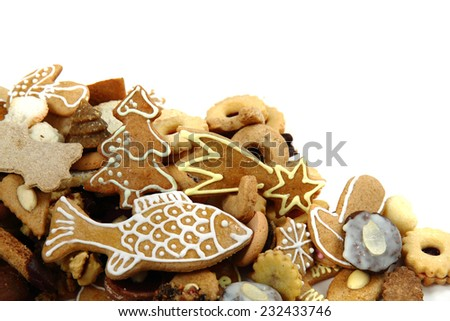 christmas cookies and gingerbread from czech republic