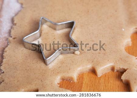 Christmas cookies preparation - stock photo