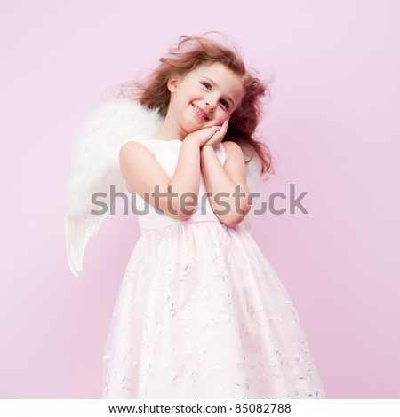 Christmas - Cute little Angel - stock photo