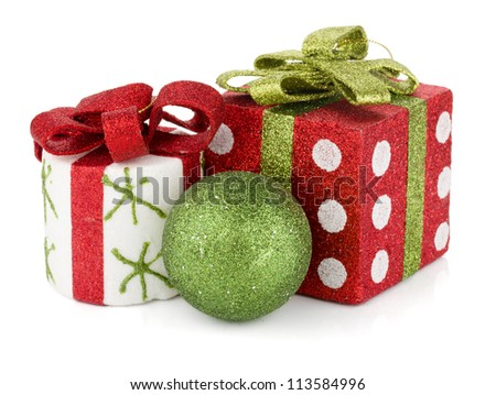 Christmas decor. Isolated on white background - stock photo