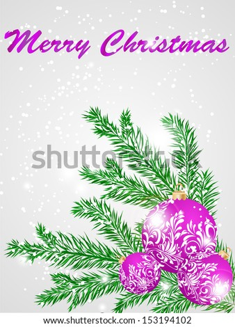 Christmas decorate card abstraction stylized illustration. raster copy  - stock photo