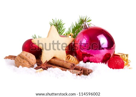 Christmas decoration and Christmas cookies