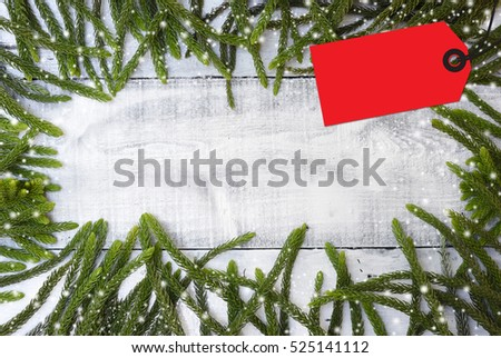Christmas decoration and Xmas background and  price tag