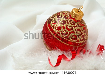 Christmas decoration. Ball. - stock photo