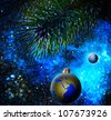 Christmas decoration ball on the firtree. - stock photo
