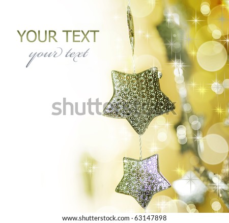 Christmas decoration border - stock photo