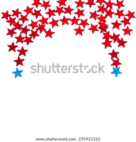 Christmas decoration  border with copy space for your text on a white background