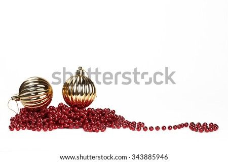Christmas decoration - Christmas balls - stock photo