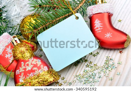 Christmas decoration, christmas baubles and pinetree
