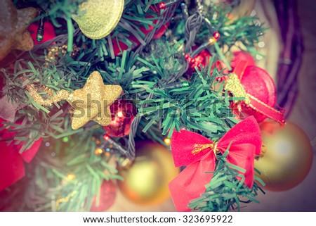 Christmas decoration - Christmas tree - stock photo