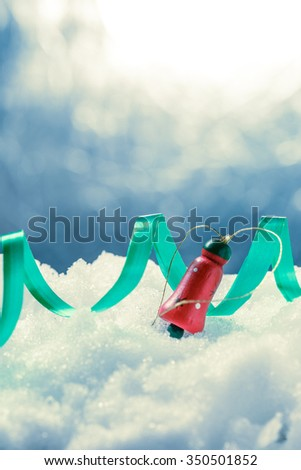 Christmas decoration  for design on snow background