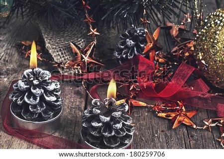 Christmas decoration for winter holidays - stock photo