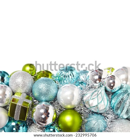Christmas decoration garland isolated white background. Xmas decoration wreath