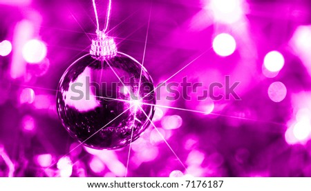 Christmas decoration hanging with starburst - stock photo