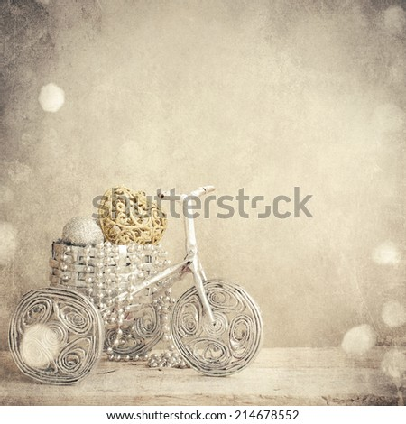 Christmas decoration in the bicycle