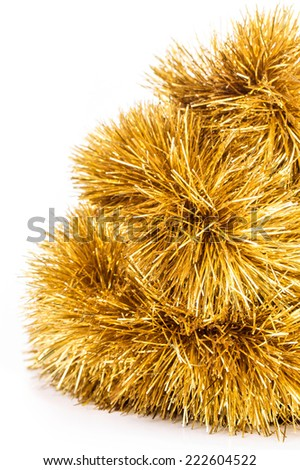 Christmas decoration. Isolated on a white background  - stock photo