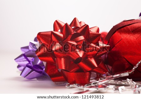 Christmas decoration isolated on white background cutout