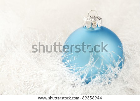 Christmas decoration on a white garland - stock photo