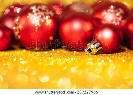 Christmas decoration on abstract background. Studio shot - stock photo