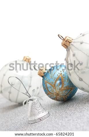 Christmas decoration  on Christmas background isolated - stock photo