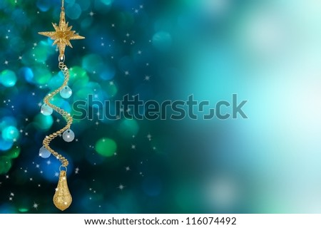 Christmas decoration on nice background - stock photo