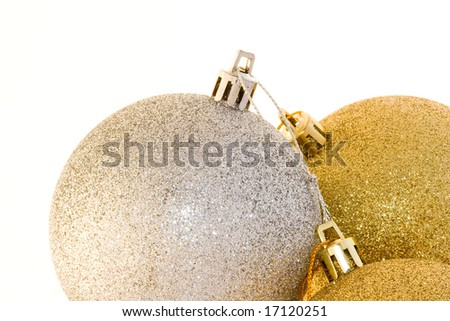 Christmas decoration on white background - stock photo