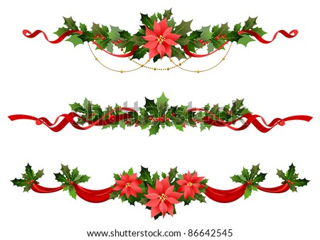 Christmas decoration. Raster version - stock photo