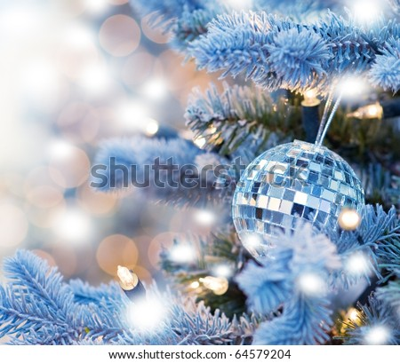 Christmas decoration (shallow DoF) - stock photo