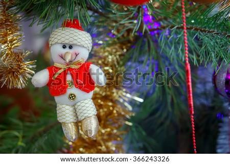 Christmas decoration snowman - stock photo