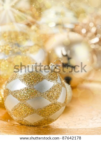 Christmas decoration with blur effect