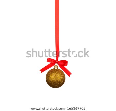 Christmas decoration with bows isolated on white background