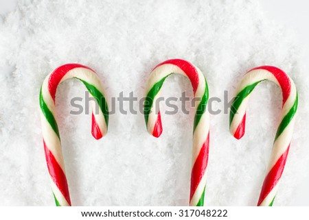 Christmas Decoration with Candy Canes - stock photo