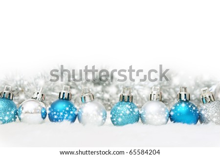 christmas decorations baubles - stock photo
