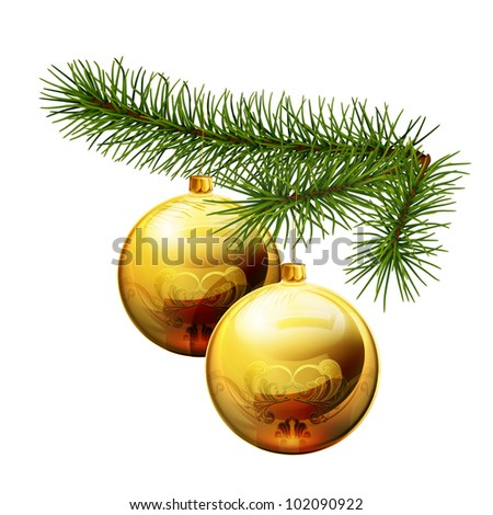 Christmas decorations, bitmap copy - stock photo