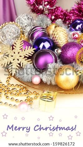 Christmas decorations close up - stock photo