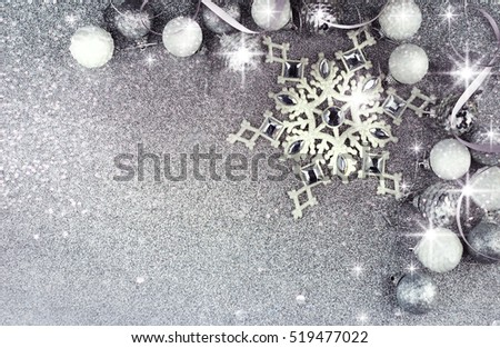 Christmas decorations Greeting card.