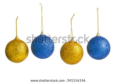Christmas decorations on a white background.  - stock photo